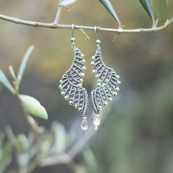 Boucles d'oreilles ailes déployées