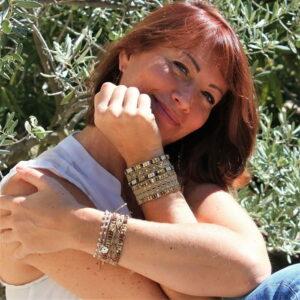 Bracelet hippie chic pour femme en fil et perles de rocaille - MIA Provence