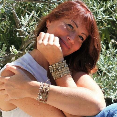 Bracelet femme hippie chic pour femme en fil et perles de rocaille - MIA Provence