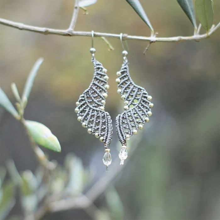 Boucle d'oreille femme tendance grises - MIA Provence
