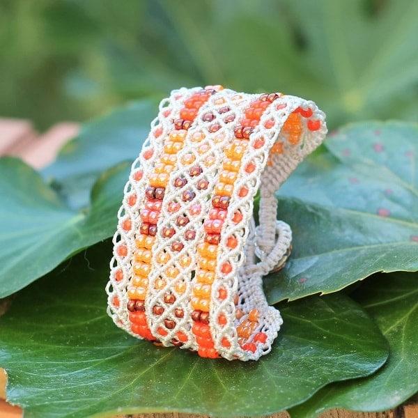 Bijouterie fantaisie Aix-en-Provence - bracelet manchette orange - MIA PROVENCE