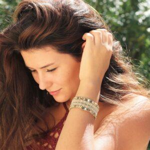 Bracelet naturel bohème l'Arlésien