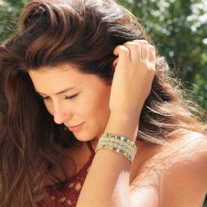 Joli bracelet style naturel beige - MIA Provence