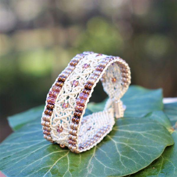 Bracelet L'Avignonnais écru et doré