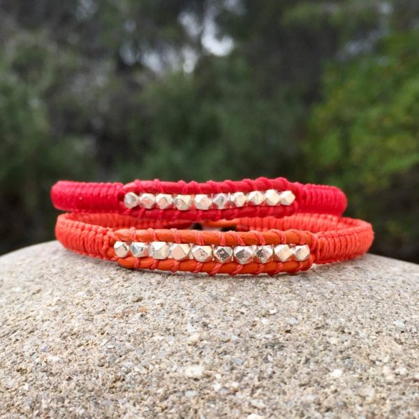 Bracelets Sormiou rouge et orange