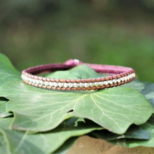 Bracelet pour homme en argent 925 rose