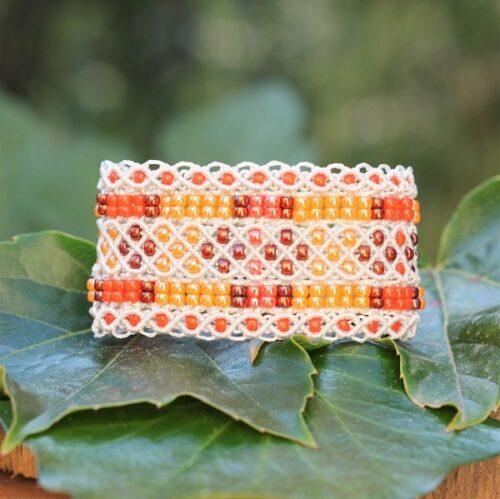 bracelet manchette damassé face MIA Provence