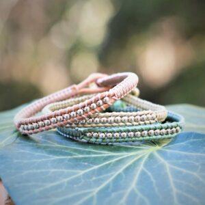 Bracelet de style classique femme en cuir et argent - MIA Provence