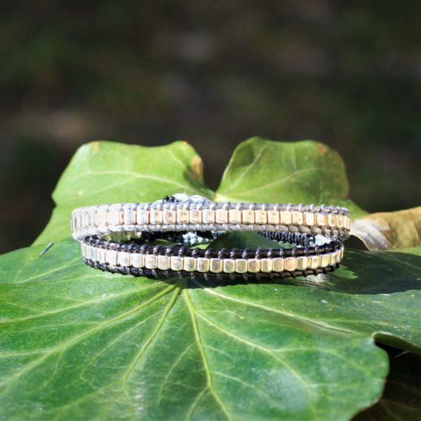 Bracelets Endoume en versions noir et gris