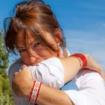 Bracelet boheme femme blanc et orange