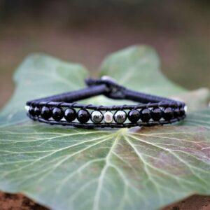 Bracelet cuir fait main pour homme - Gabriel