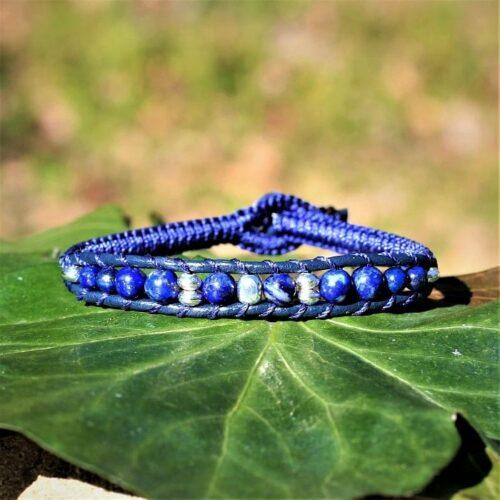 Bracelet homme perles Lapis Lazuli - MIA Provence