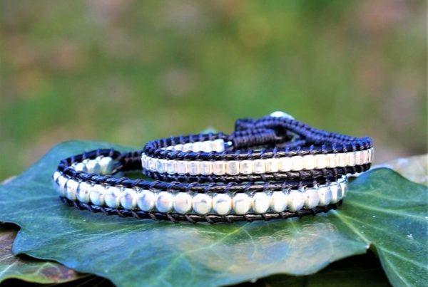 Bracelet mixte en argent - bracelet noir Endoume - avec quoi nettoyer des bijoux en argent - MIA Provence