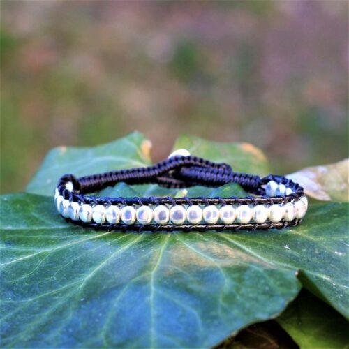 Bracelet mixte homme femme noir - version homme