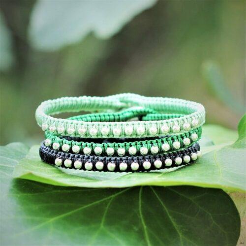 bracelet femme cuir et argent le Ciotaden - MIA Provence
