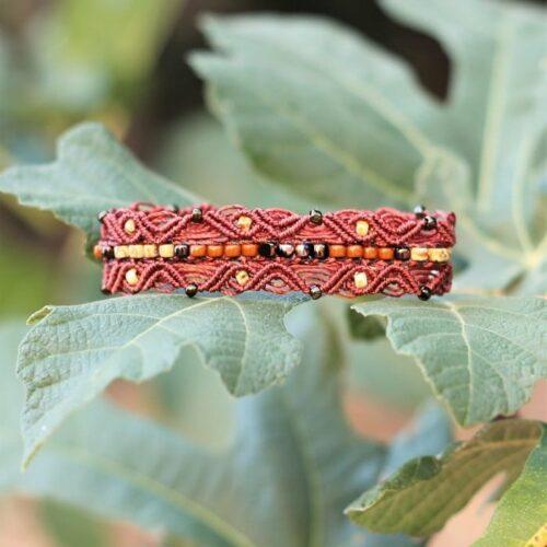 Bracelet style bohème chic terracotta