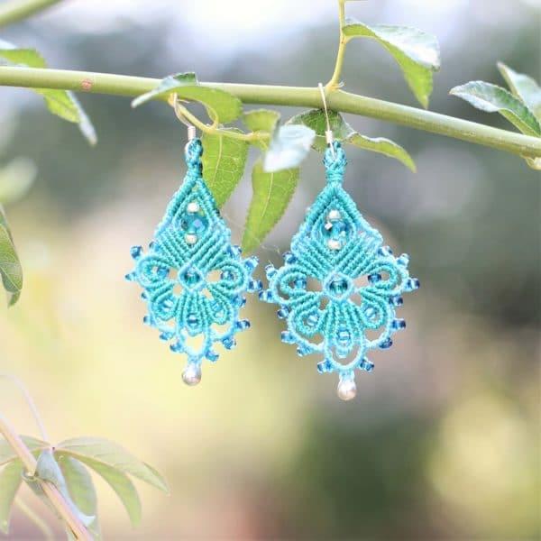 Boucles d'oreilles bohème turquoise