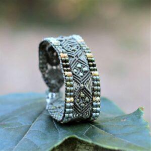 Bracelet ethnique kaki