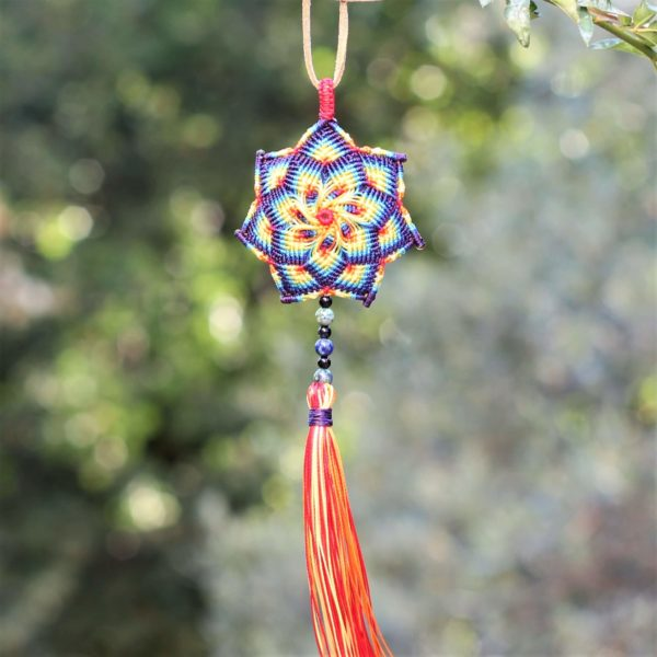 collier long à pendentif mandala