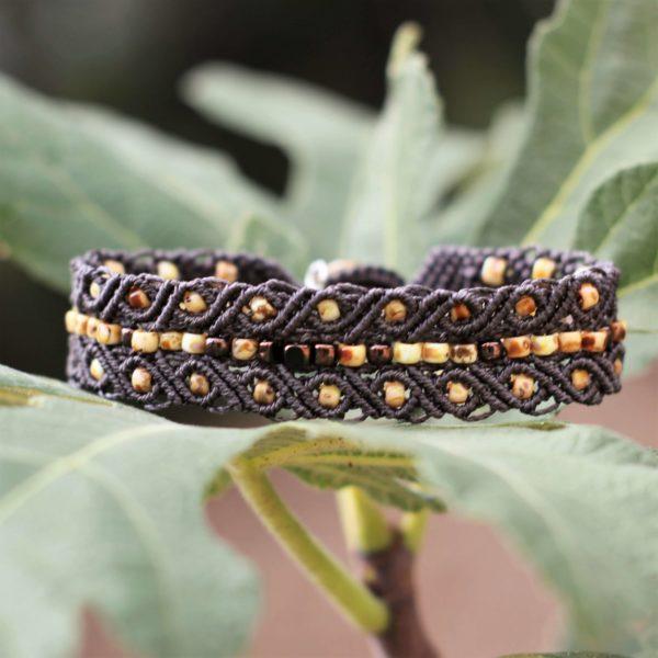 Bracelet bohème chic Le Tarasconnais marron