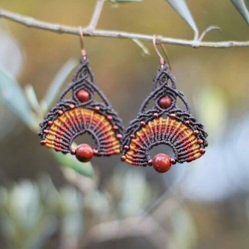 Boucles d'oreilles hippie chic marron