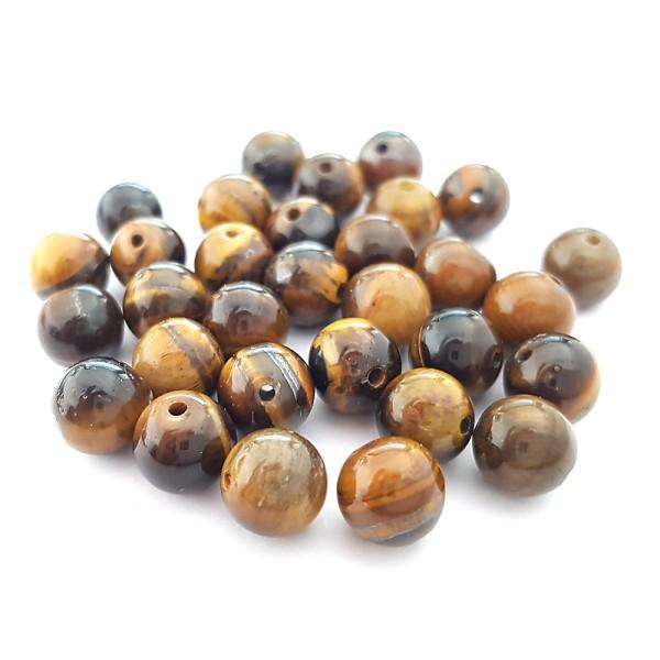 Perles en pierres fines semi-précieuses