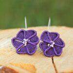 Boucles d'oreilles fleurs violette MIA Provence