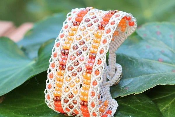 Bracelet manchette fantaisie fait-main - MIA Provence