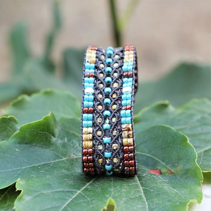 Bracelet large aux couleurs style bijoux amérindiens MIA Provence