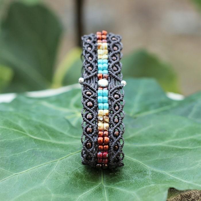 Bracelet étroit aux couleurs style bijoux amérindiens - bracelet fantaisie femme