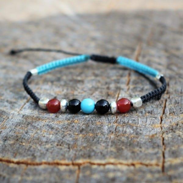 Bracelet homme ajustable couleurs bijoux amérindiens