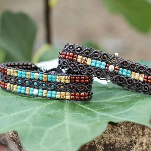 collection bijoux amérindiens - Bracelets de couleurs style Navajo MIA Provence
